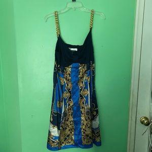 Printed slip dress